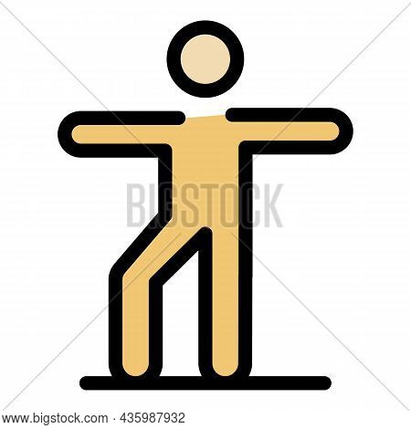 Senior Morning Exercise Icon. Outline Senior Morning Exercise Vector Icon Color Flat Isolated