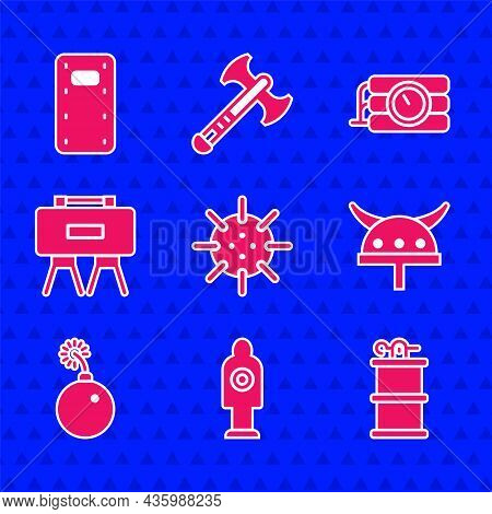 Set Naval Mine, Human Target Sport For Shooting, Hand Smoke Grenade, Viking Horned Helmet, Bomb Read