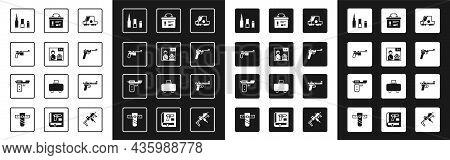 Set Collimator Sight, Advertising Weapon, Mauser Gun, Bullet, Military Ammunition Box, Desert Eagle