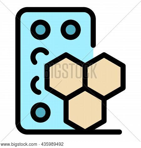 Hormones Icon. Outline Hormones Vector Icon Color Flat Isolated
