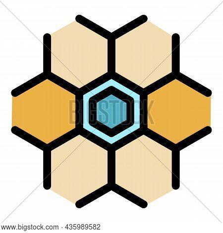 Hormones Celule Icon. Outline Hormones Celule Vector Icon Color Flat Isolated