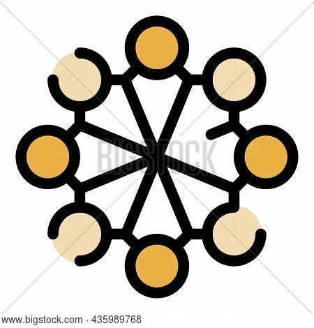 Circle Hormones Icon. Outline Circle Hormones Vector Icon Color Flat Isolated
