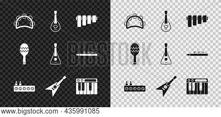 Set Tambourine, Guitar, Pan Flute, Sound Mixer Controller, Electric Bass Guitar, Music Synthesizer,