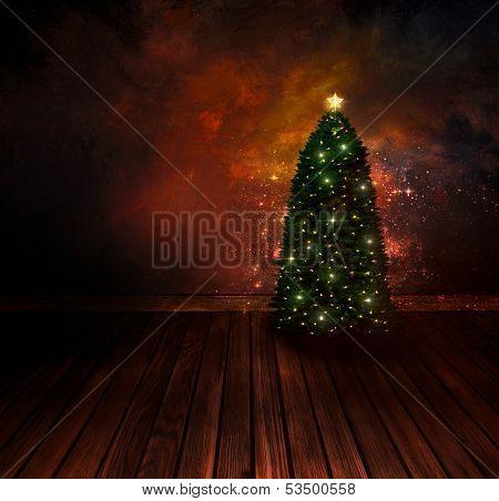Chritmas Design - Night Christmas Tree