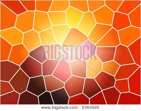 Orange Stain glass