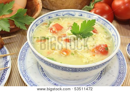 Asian Chicken Soup With Eggs
