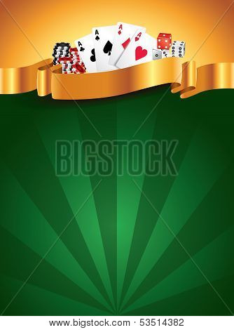 Casino Green Luxury Vertical Background