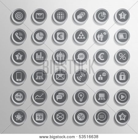 Vector icon. Set of elements