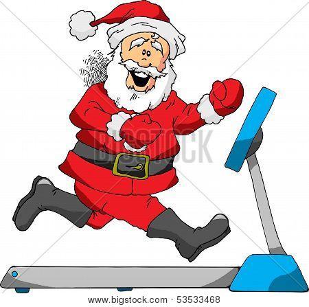 Santa on a Treadmill