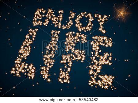 Enjoy Life Symbol Made Of Tiny Spheres
