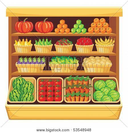 Supermarket Vegetables And Fruit