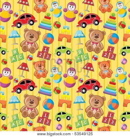 Seamless Toys Pattern.