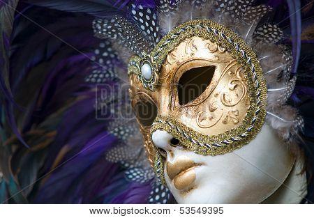 colorful venetian mask