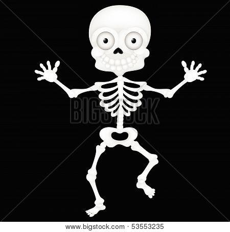 Funny skeleton cartoon
