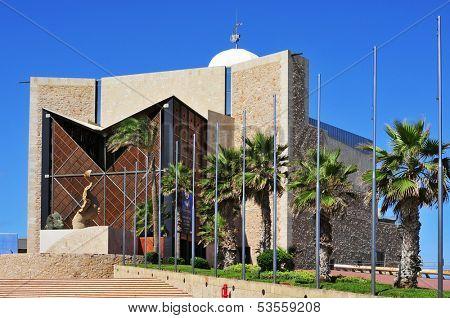 LAS PALMAS, SPAIN - OCTOBER 17: Auditorio Alfredo Kraus on October 17, 2013 in Las Palmas, Spain. The auditorium of Playa de las Canteras is named after the distinguished tenor, born in the city