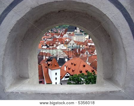 View From The Medieval Castle Window.