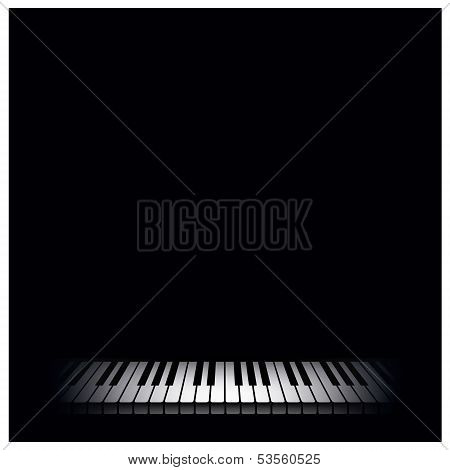 Piano background. Vector illustration.