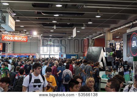 People At Games Week 2013 In Milan, Italy