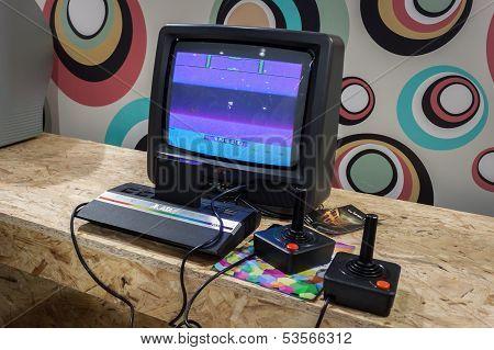 Atari Retro Console At Games Week 2013 In Milan, Italy