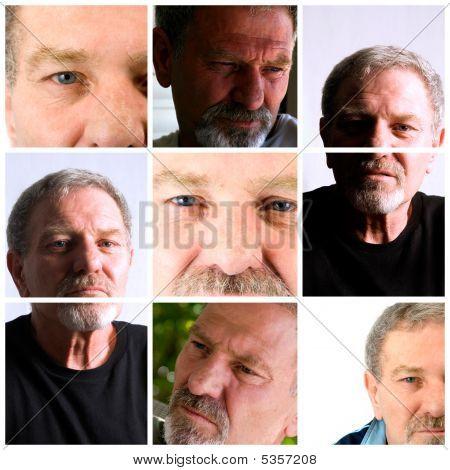 Collage aus einem Männchen