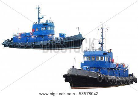 towboat isolated under the white background