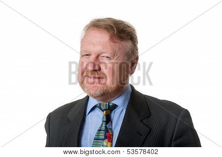 Cynical Businessman - On White