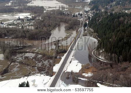 Washington state flooding in the farm valleys between Seattle and Portland poster