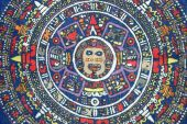 Ancient Aztec calendar. Mexican heritage and traditions poster