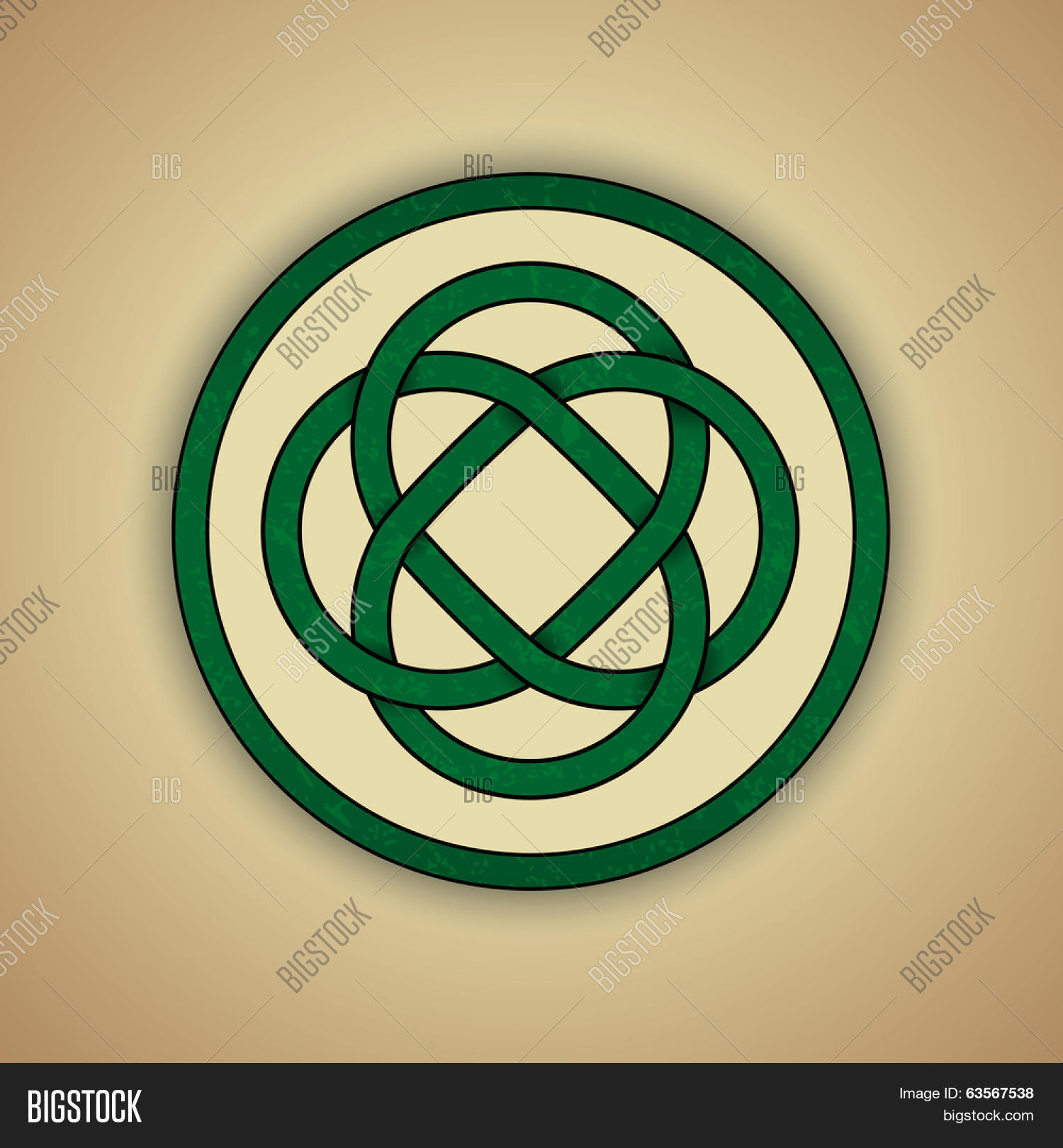 Celtic lovers knot symbol eternal vector photo bigstock celtic lovers knot symbol of eternal love vector illustration of green celtic knot with slight buycottarizona Gallery