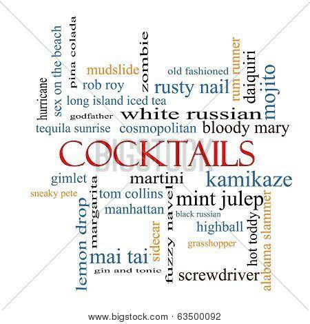 Cocktails Word Cloud Concept