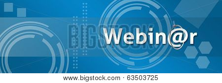 Webinar In Professional Style Background