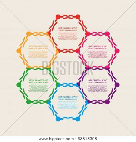 Decorative diagram, schema, infographics