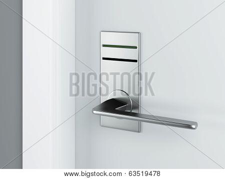 Door and electronic lock