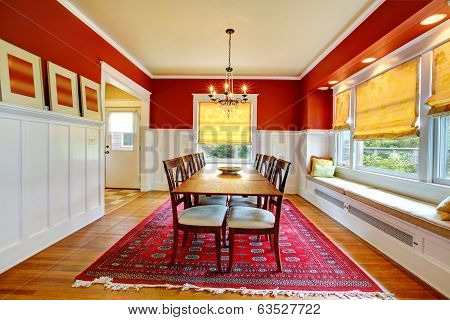 Contast Wall Dining Room Interior.