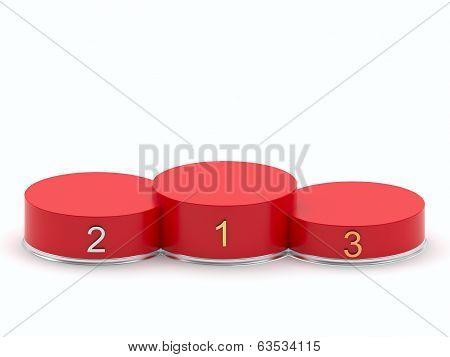 Empty Red Podium