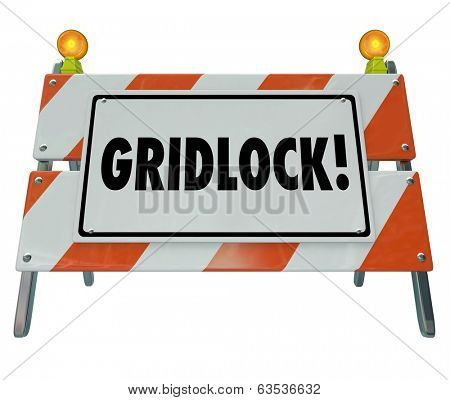 Gridlock Sign Barrier Barricade Road Construction Sign Traffic