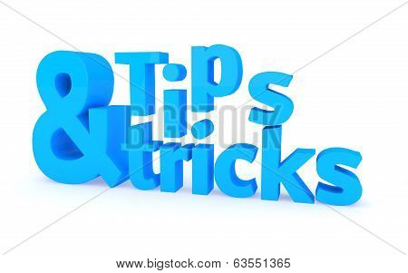 Tips and tricks icon on a white background. 3D illustration. poster