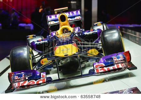 Red Bull Formula 1 Car At The Geneva Motor Show
