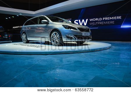 Peugeot 308 At The Geneva Motor Show
