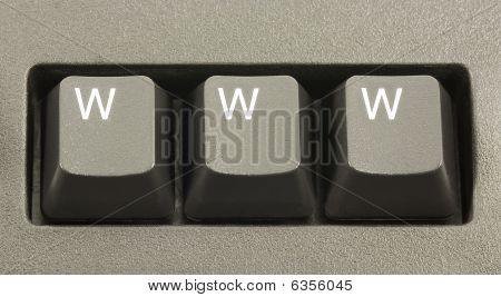 Www Internet Concept On A Computer Keyboard