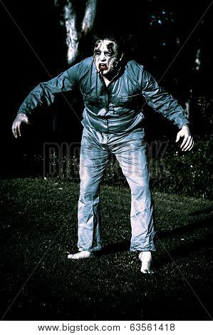 Evil Dead Horror Zombie Walking Undead In Cemetery