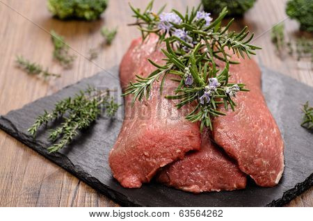 Raw Lamb Fillet With Herbs