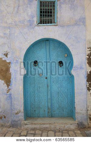 Old Style Blue Door