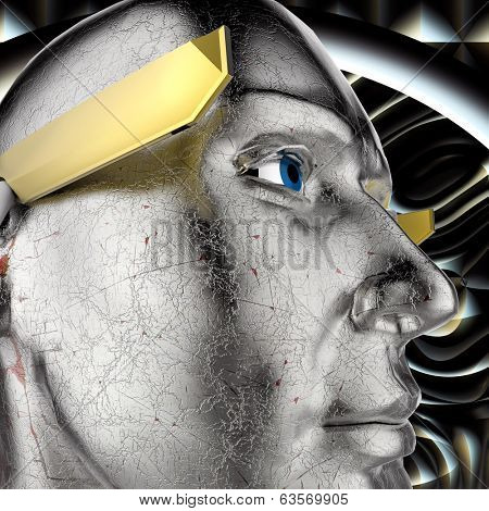 different thinking -the abstract illustration