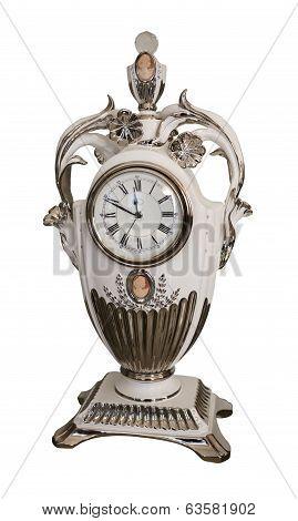 Porcelain Mantel Clock 19Th Century