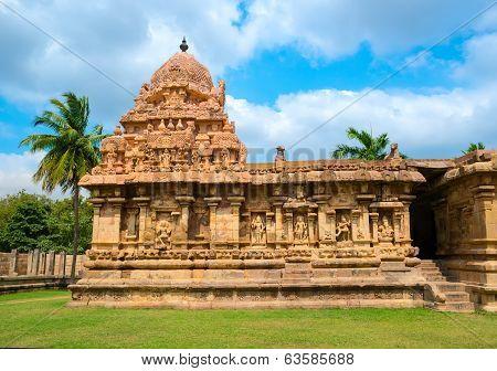 Great Architecture Of Hindu Temple Dedicated To Shiva, Ancient Gangaikonda Cholapuram Temple,  India