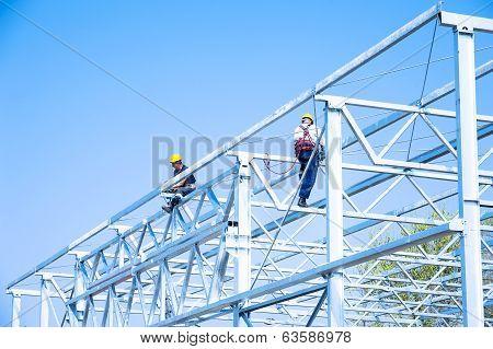 Iron Construction Assembling, team work