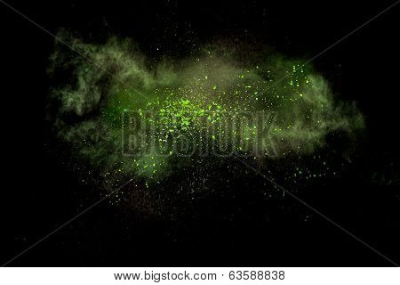 Abstract Design Of Powder Cloud