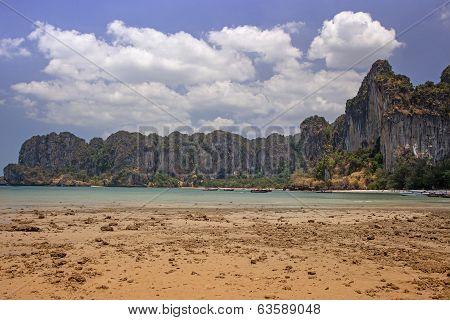 Seashore At Railay Bay, Krabi Province, Thailand