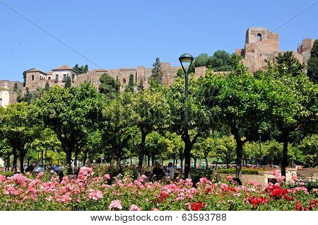 Gibralfaro castle, Malaga, Spain.